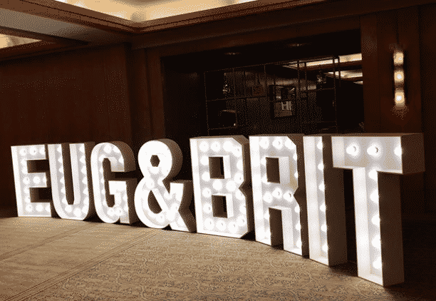 Eug & Brit Jumbo Marquee Lights